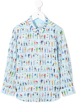 Paul Smith people printed shirt
