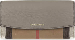 Burberry House check continental leather wallet - THISTLE GREY - STYLE