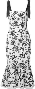 Rachel Zoe Lily Embroidered Cotton-gauze Midi Dress - Off-white