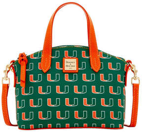 Dooney & Bourke Miami Hurricanes Ruby Mini Satchel Crossbody - GREEN - STYLE