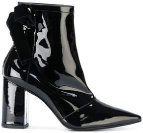 Robert Clergerie velvet bow ankle boots