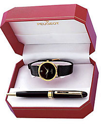 Peugeot Men's Watch Gift Set with Black Pen
