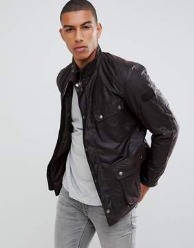 Barbour International Duke Wax Jacket in Brown