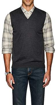 Barneys New York Men's Mélange Wool Sweater Vest