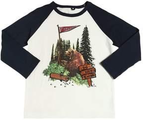 Stella McCartney Bear Print Organic Cotton Jersey T-Shirt