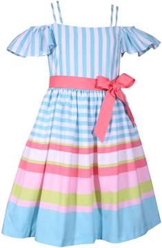 Bonnie Jean Girls 4-6x Striped Linen Dress