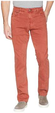 AG Adriano Goldschmied Everett Slim Straight Leg Sueded Pants in Sulfur Dried Sumac Men's Clothing