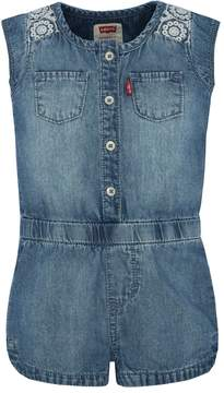 Levi's Girls 4-6x Denim Romper