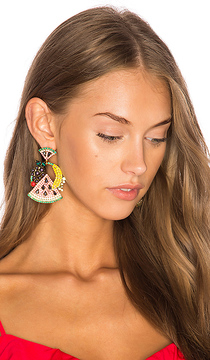 Elizabeth Cole Fruit Salad Statement Earrings