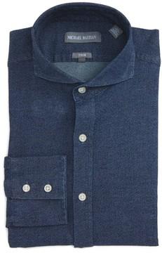 Michael Bastian Men's Trim Fit Cotton Twill Dress Shirt