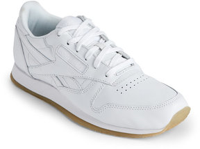 Reebok White Classic Leather Low Top Sneakers
