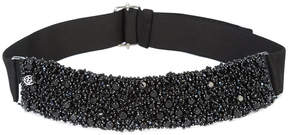 Maison Michel beads embroidered headband