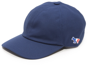 MAISON KITSUNÉ Tricolor Fox Patch 6 Panel Cap