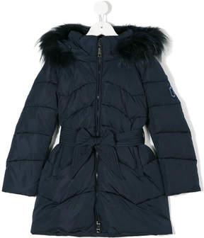 MonnaLisa fur hood padded coat