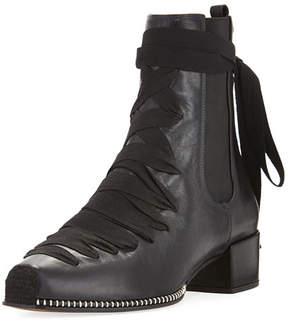 Altuzarra Leather Lace-Up Block-Heel Boot