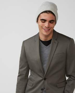 Express Extra Slim Green Cotton Sateen Suit Jacket