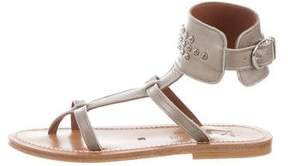 K Jacques St Tropez Clipper Studded Sandals