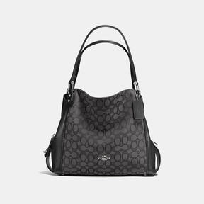 COACH Coach Edie Shoulder Bag 31 - SILVER/BLACK SMOKE/BLACK - STYLE