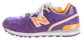 New Balance Girls' Low-Top Suede Sneakers