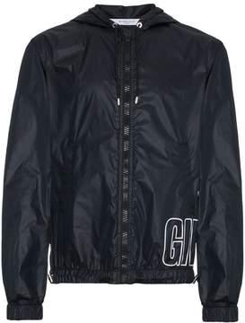 Givenchy large logo hooded jacket
