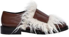Marni 20mm Faux Fur & Brushed Leather Shoes