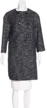 Eleventy Tweed Double-Breasted Coat