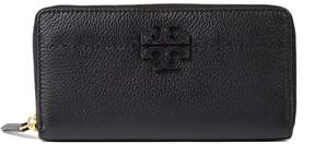 Tory Burch Mcgraw Wallet - BLACK - STYLE