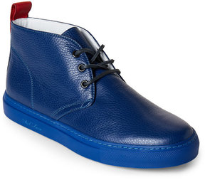Del Toro Blue Leather Chukka Sneakers
