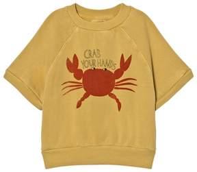 Bobo Choses Yellow Crab Your Hands Sweatshirt