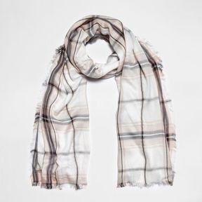 River Island Womens Cream check lurex scarf