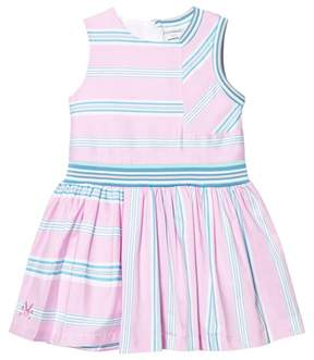 No Added Sugar Pink and Green Stripe Sleeveless Dress