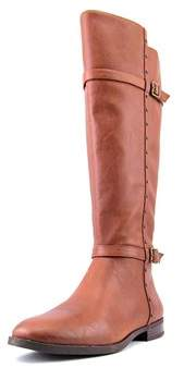 INC International Concepts Ameliee Women Synthetic Brown Knee High Boot.