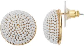 Dana Buchman Wrapped Stud Earrings