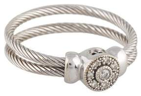 Charriol 18K Diamond Double Cable Ring