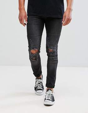 Religion Jeans In Skinny Fit With Stretch And Distressing