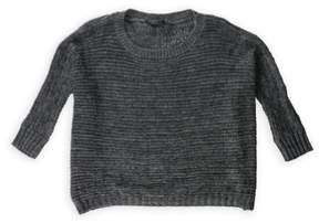 BCBGeneration BCBG Womens Fuzzy Pullover Sweater Grey L