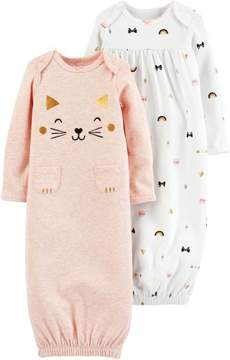 Carter's Baby Girls 2-pk. Cat Babysoft Sleeper Gowns 3 Month Pink/white/gold