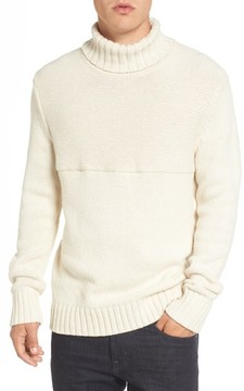 French Connection Men's Ribbed Turtleneck Sweater