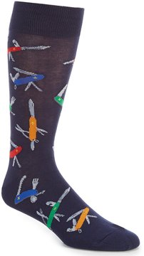 Hot Sox Pocket Knife Crew Socks