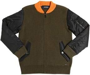 Diesel Tricot Wool & Nylon Cardigan Jacket