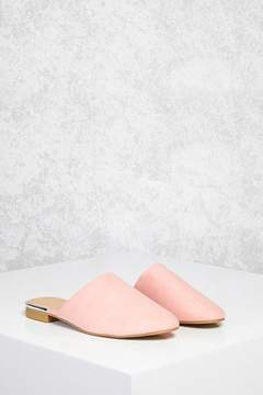 FOREVER 21 Faux Suede Slip-On Mules