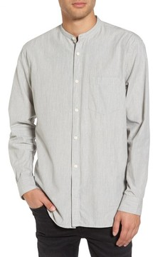 French Connection Men's Regular Fit Band Collar Shirt