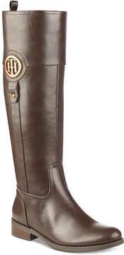 Tommy Hilfiger Ilia2 Wide Calf Riding Boots, Created for Macy's Women's Shoes
