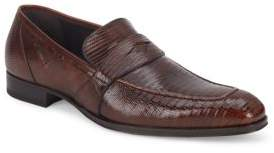 Mezlan Textured Leather Penny Loafers