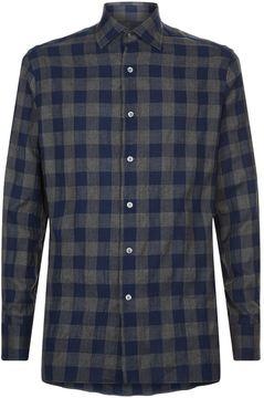 Dunhill Check Print Flannel Shirt
