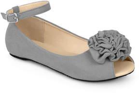 Journee Collection Grey Fleur Ballet Flat