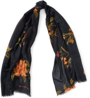 Polo Ralph Lauren | Floral Cotton-Silk-Blend Scarf | Black/floral