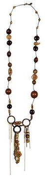 Erickson Beamon Crystal and Wood Necklace
