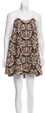 Caroline Constas Strapless Embroidered Dress