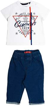 GUESS Short-Sleeve Tee and Pants Set (0-24M)